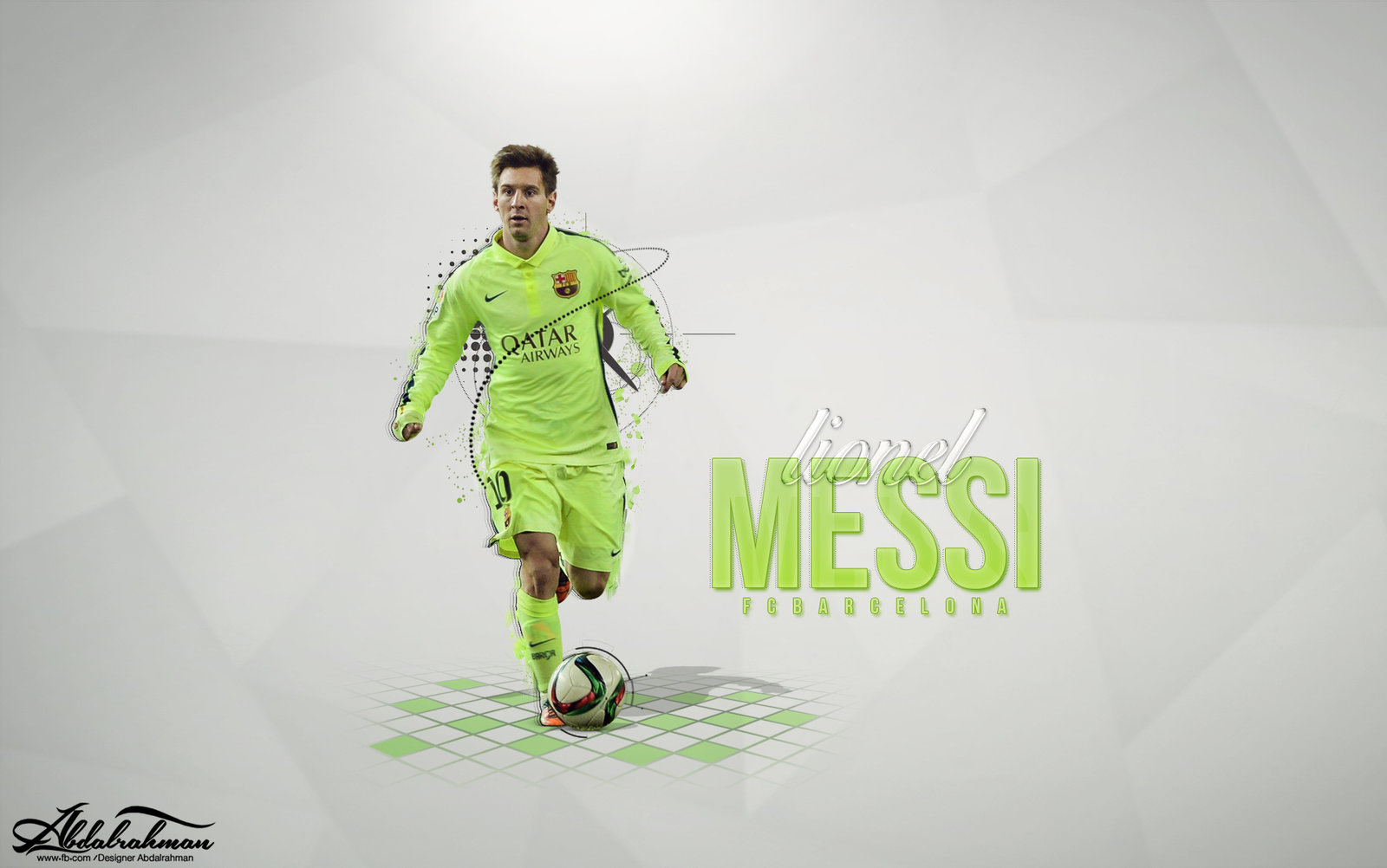 wallpaper lionel messi 2015 by Designer Abdalrahman 1600x1002