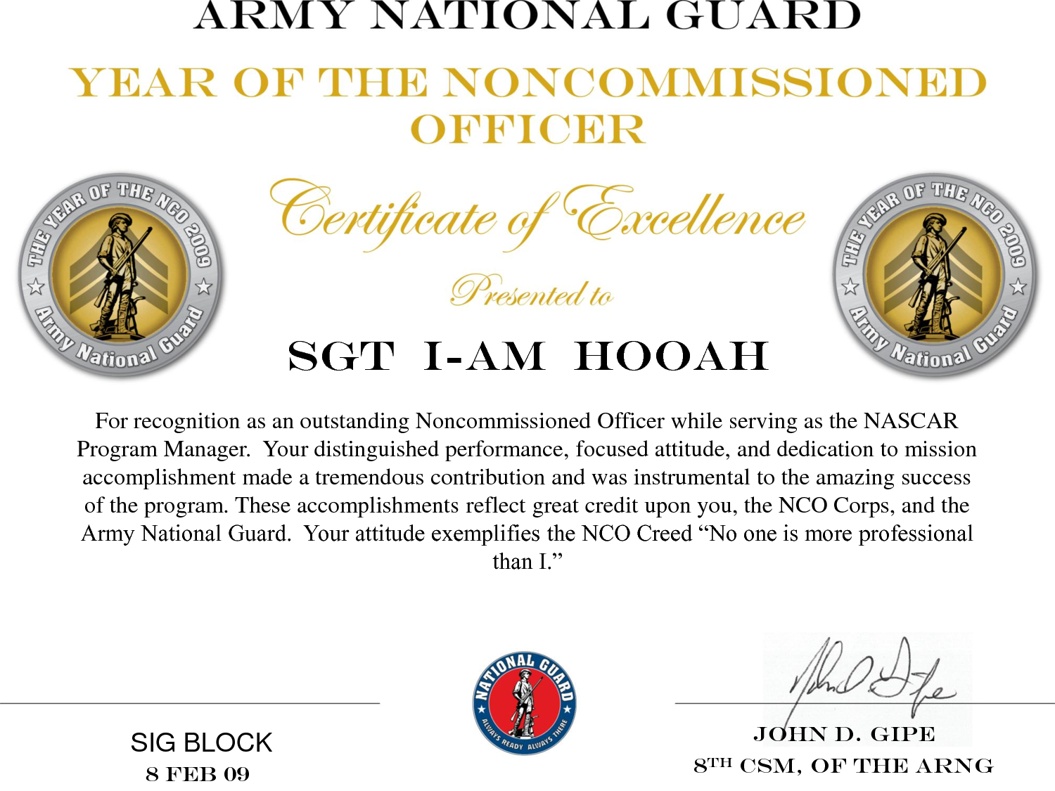 the creed of the non commissioned Marine corps staff nco creed : i am a staff noncommissioned officer in the united states marine corps as such, i am a member of the most unique group of professional military practitioners in the world.