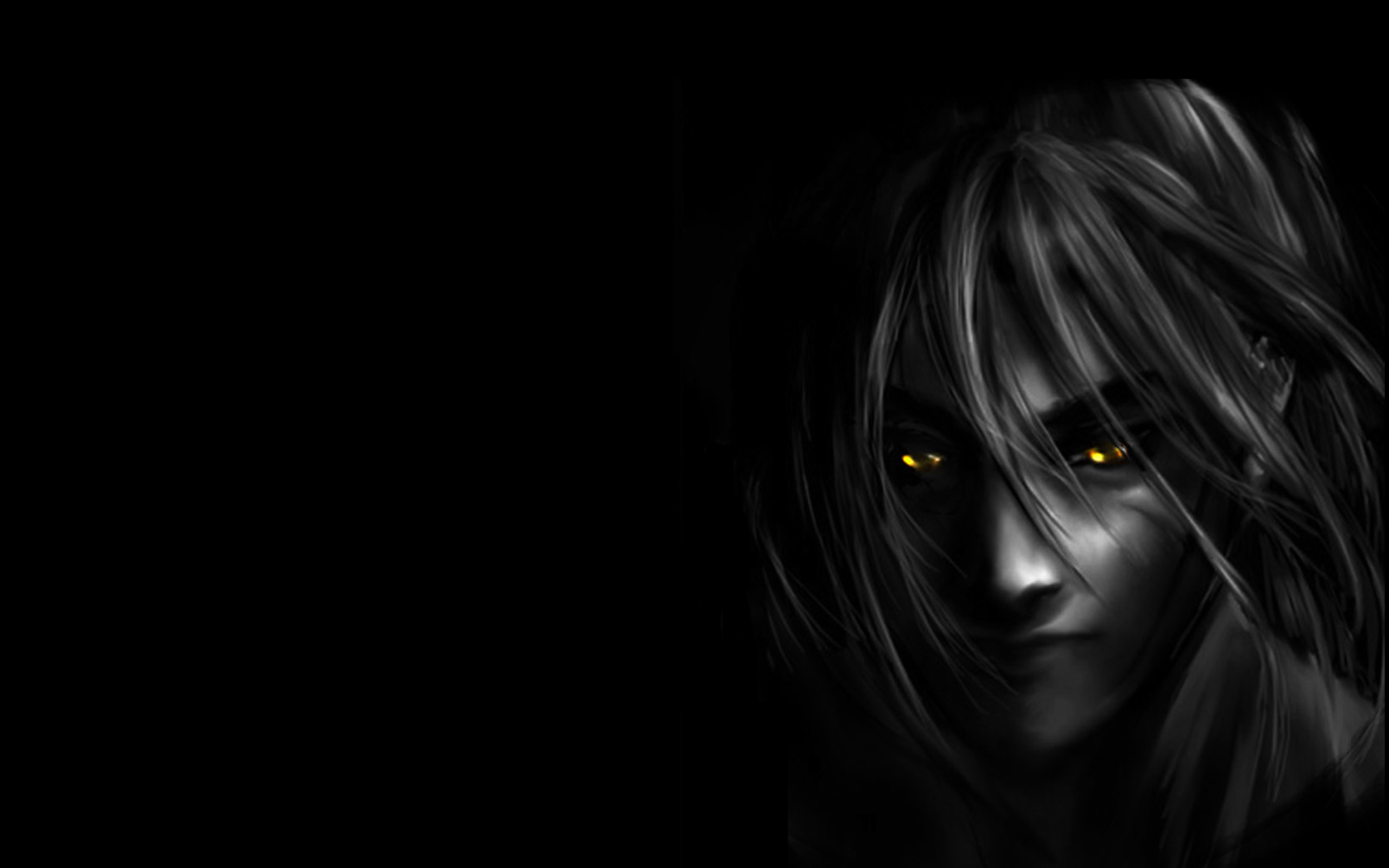 Dark anime girl wallpaper wallpapersafari - Anime wallpaper black background ...