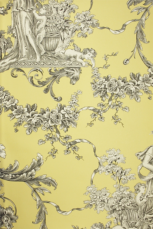 Biltmore Wallpaper An elegant toile wallpaper with urns and cherubs in 534x796