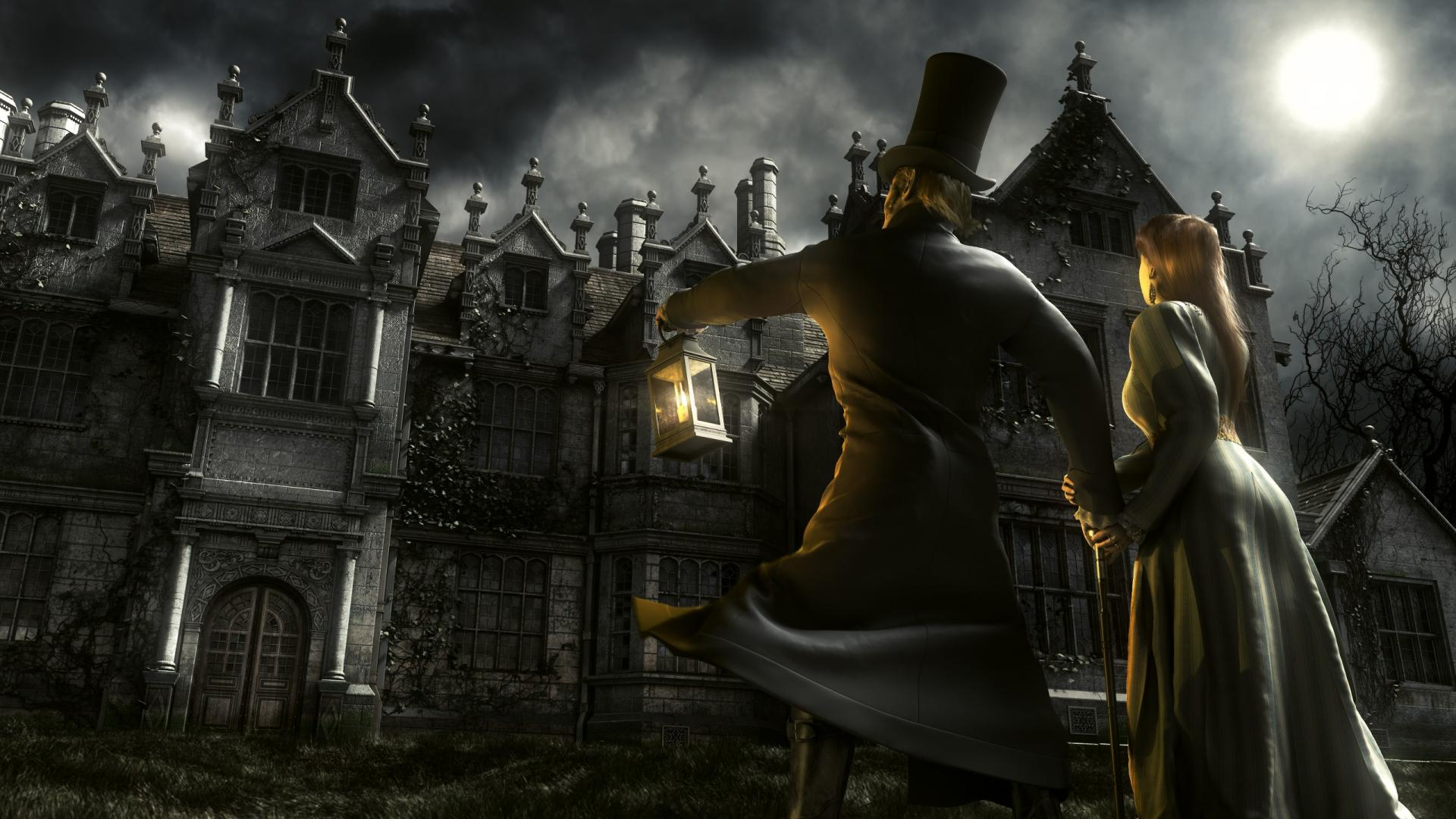 Free Download Fantasy Art Darkness King Diamond Mansion Wallpaper
