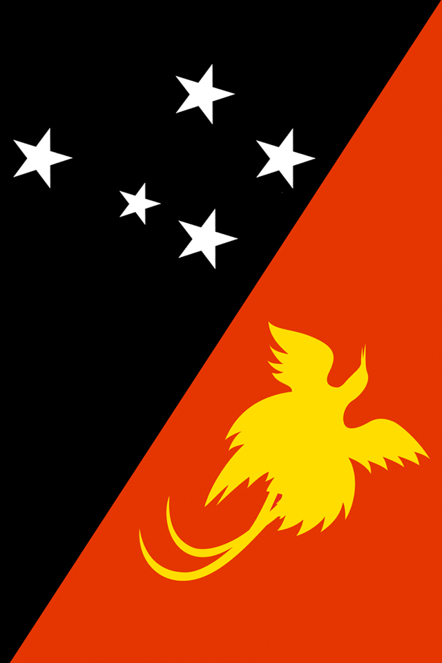 Papua New Guinea Flag iPhone Wallpaper HD 640x960