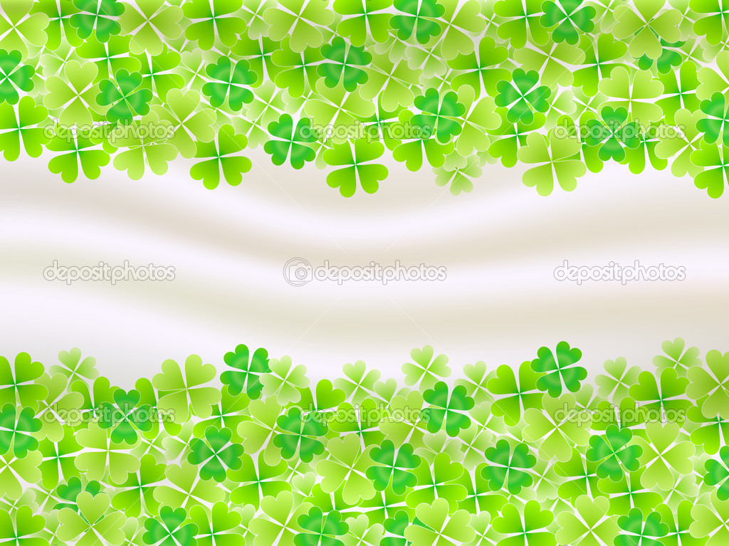 Four Leaf Clovers Background Four Leaf Clover Leaf Background Vector 1024x767