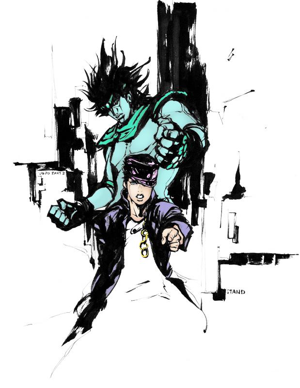 Jotaro Kujo and Star Platinum by AnonymousSoup 619x800
