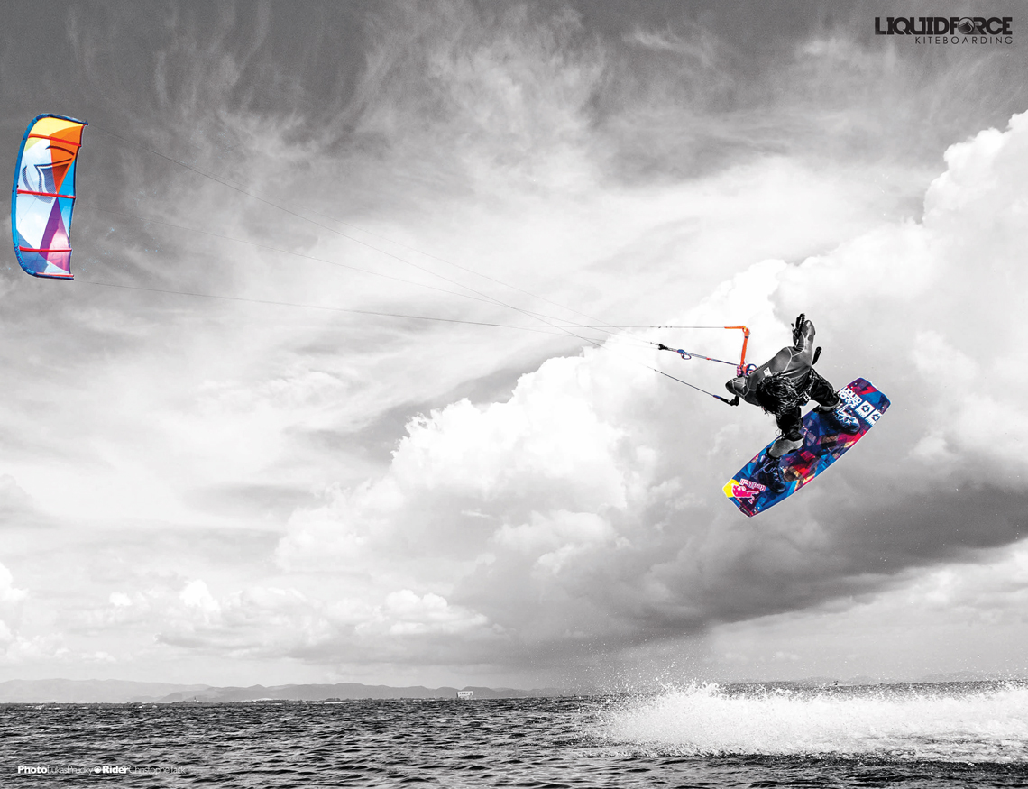 Liquid Force Kiteboarding wallpaper Christophe Tack giving the 1140x875