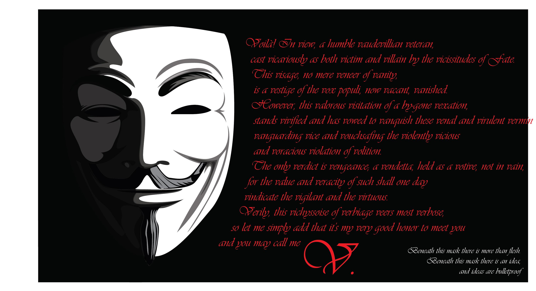 V For Vendetta Mask Wallpaper Quotes V for Vendetta Mask Wa...