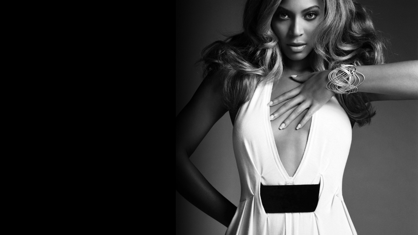 1366x768 Beyonce white dress desktop PC and Mac wallpaper 1366x768