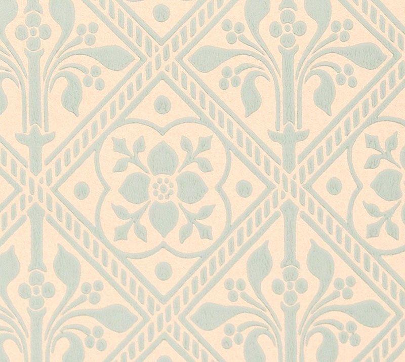 Trellis Wallpaper   Gummer Blue   Historical wallpapers collection 800x715