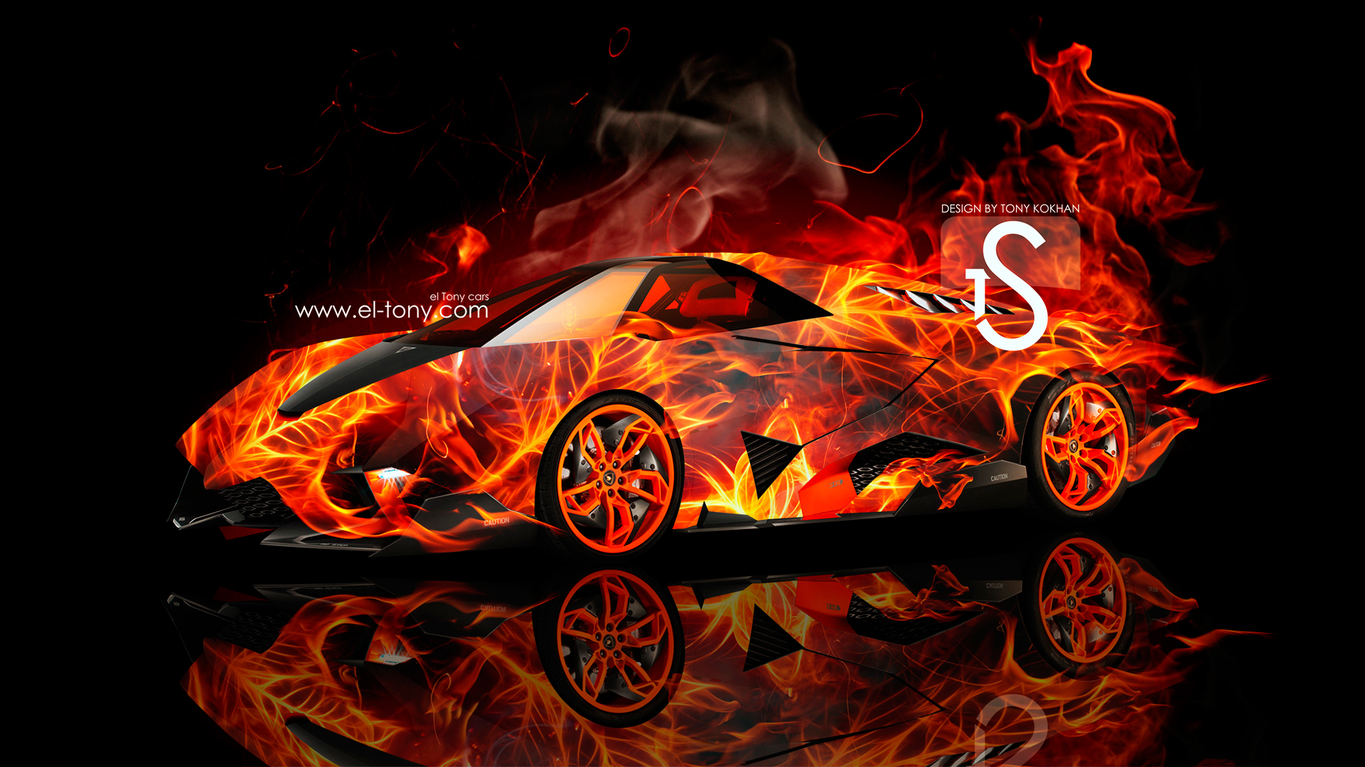 Lamborghini Egoista Fire Car 2013 HD Wallpaper 1920x1080 [wwwel tony 1920x1080