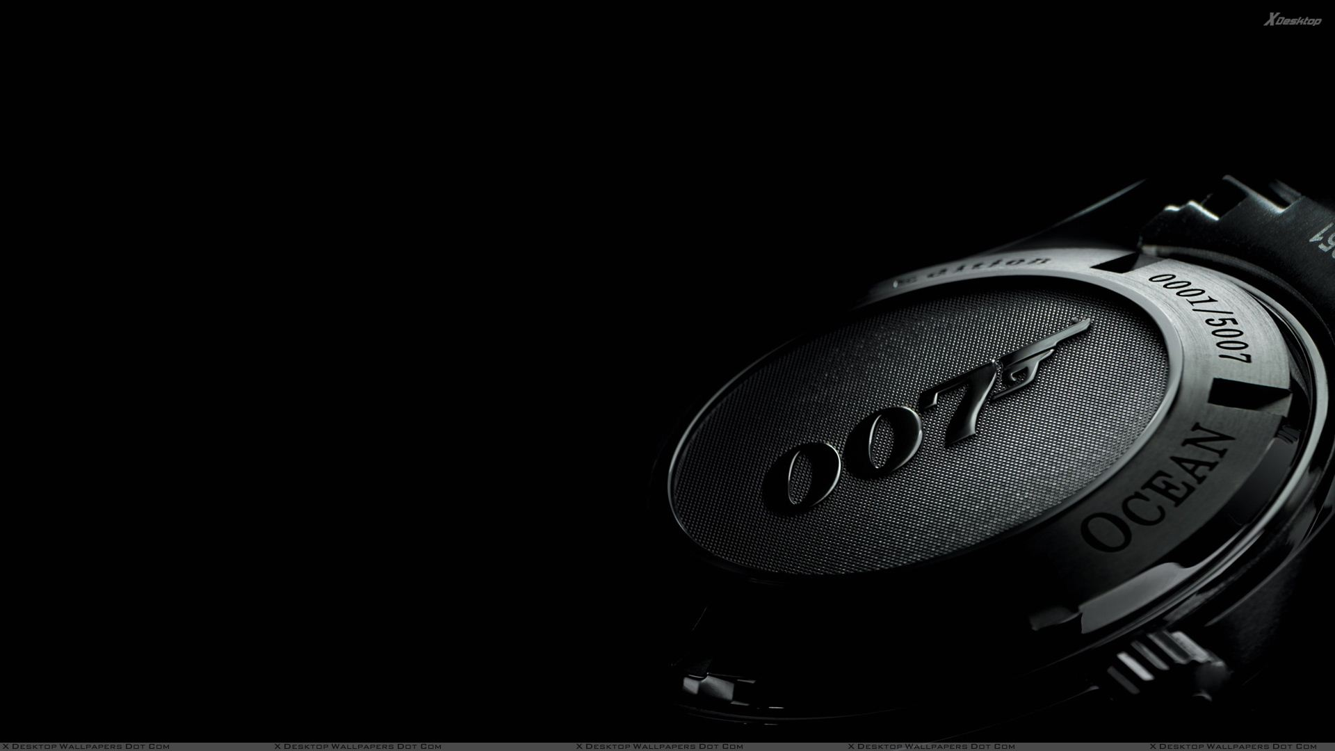 007 Wrist Watch N Black Background Wallpaper 1920x1080