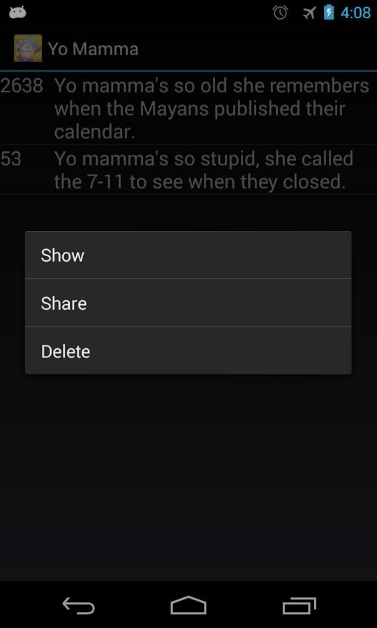 Yo Mamma Jokes   screenshot 540x900