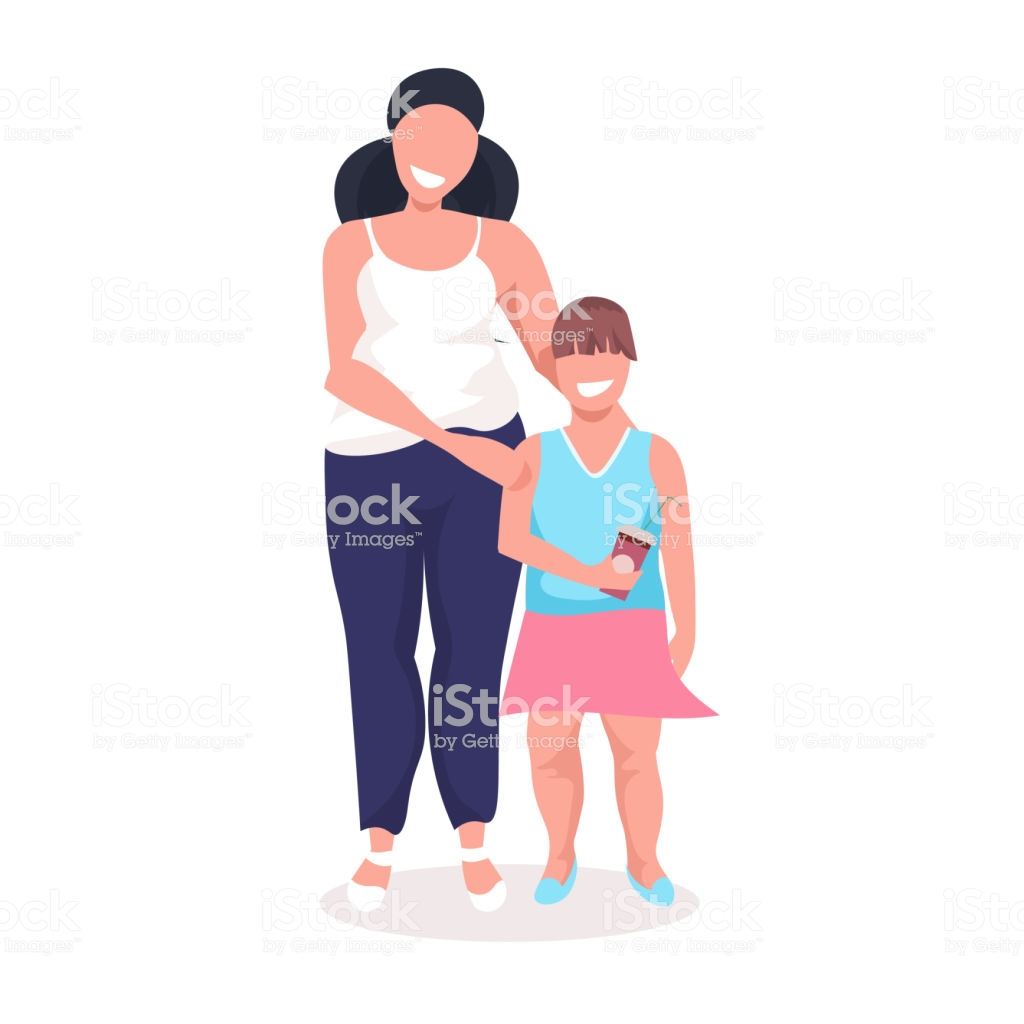 Overweight Little Girl With Obese Mother Fat Over Size Family 1024x1024
