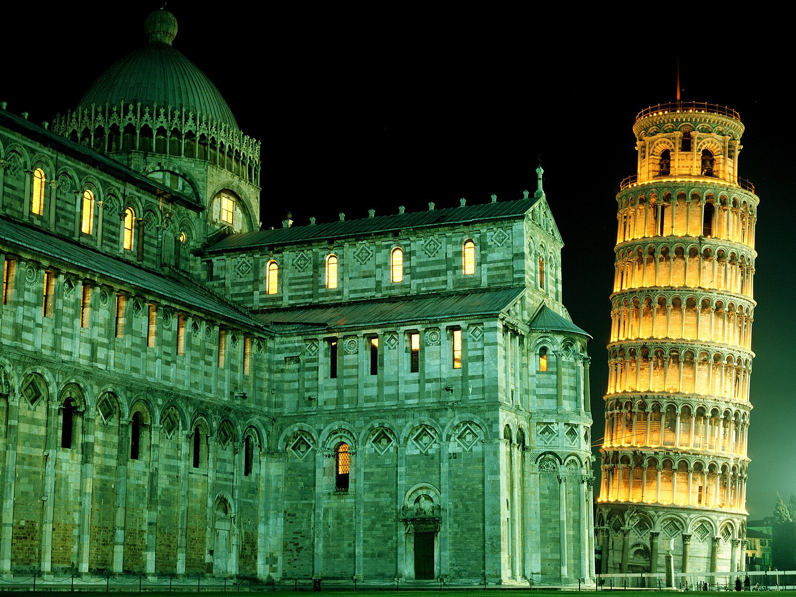 Pisa Tower Night View Wallpaper Travel HD Wallpapers 1600x1200