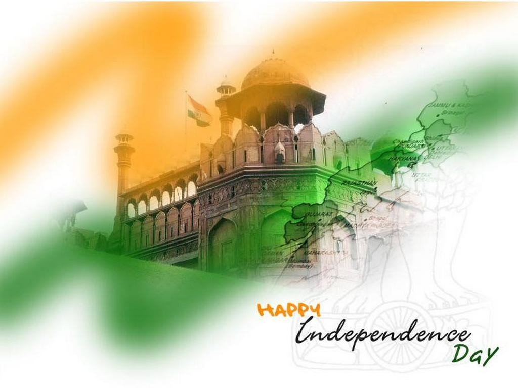 Happy 72th Independence Day of India HD Wallpapers with Quotes 1024x768
