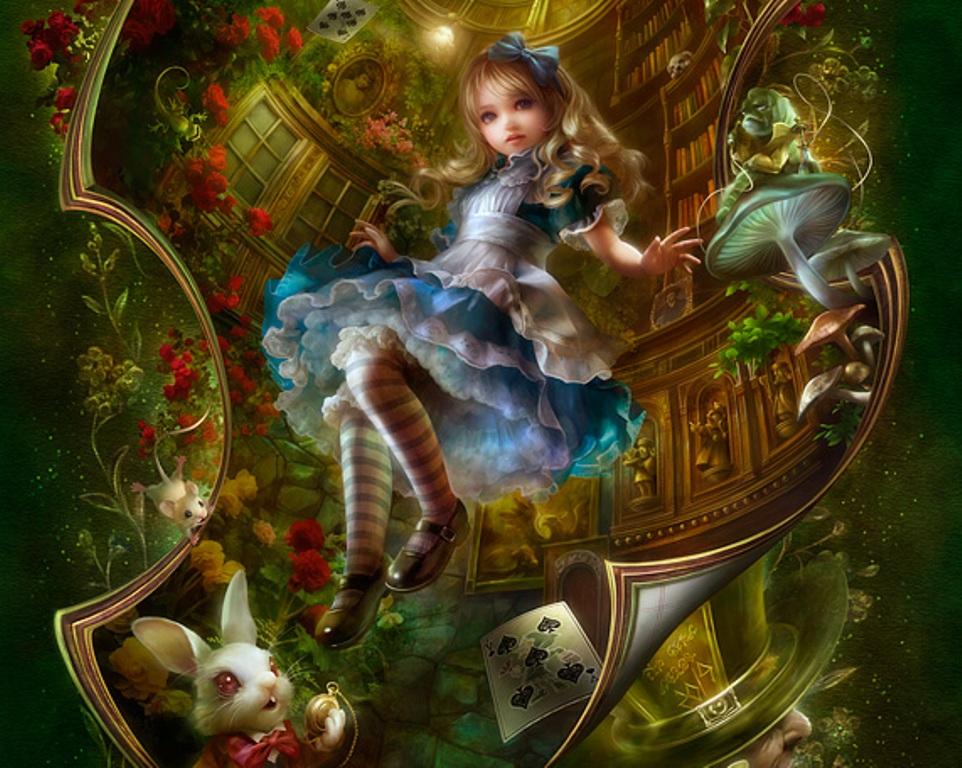 [47+] Alice in Wonderland Room Wallpaper on WallpaperSafari