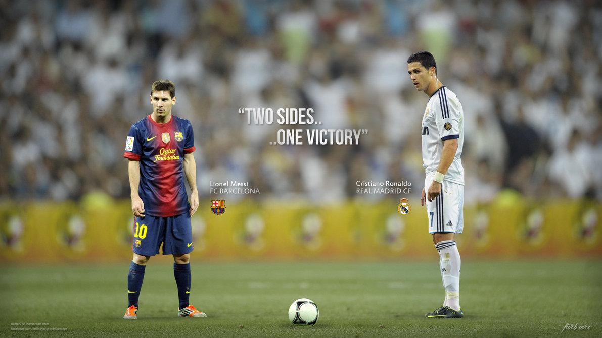Cristiano Ronaldo vs Lionel Messi 2013 Wallpapers HD 1191x670