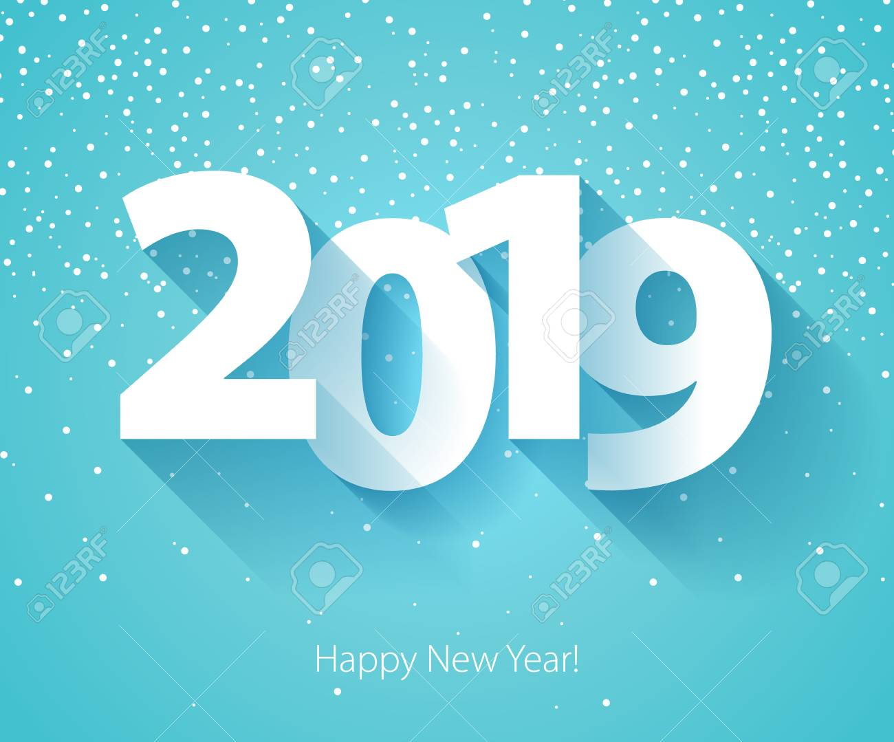 Happy New Year 2019 Background Calendar Design Typography Vector 1300x1079