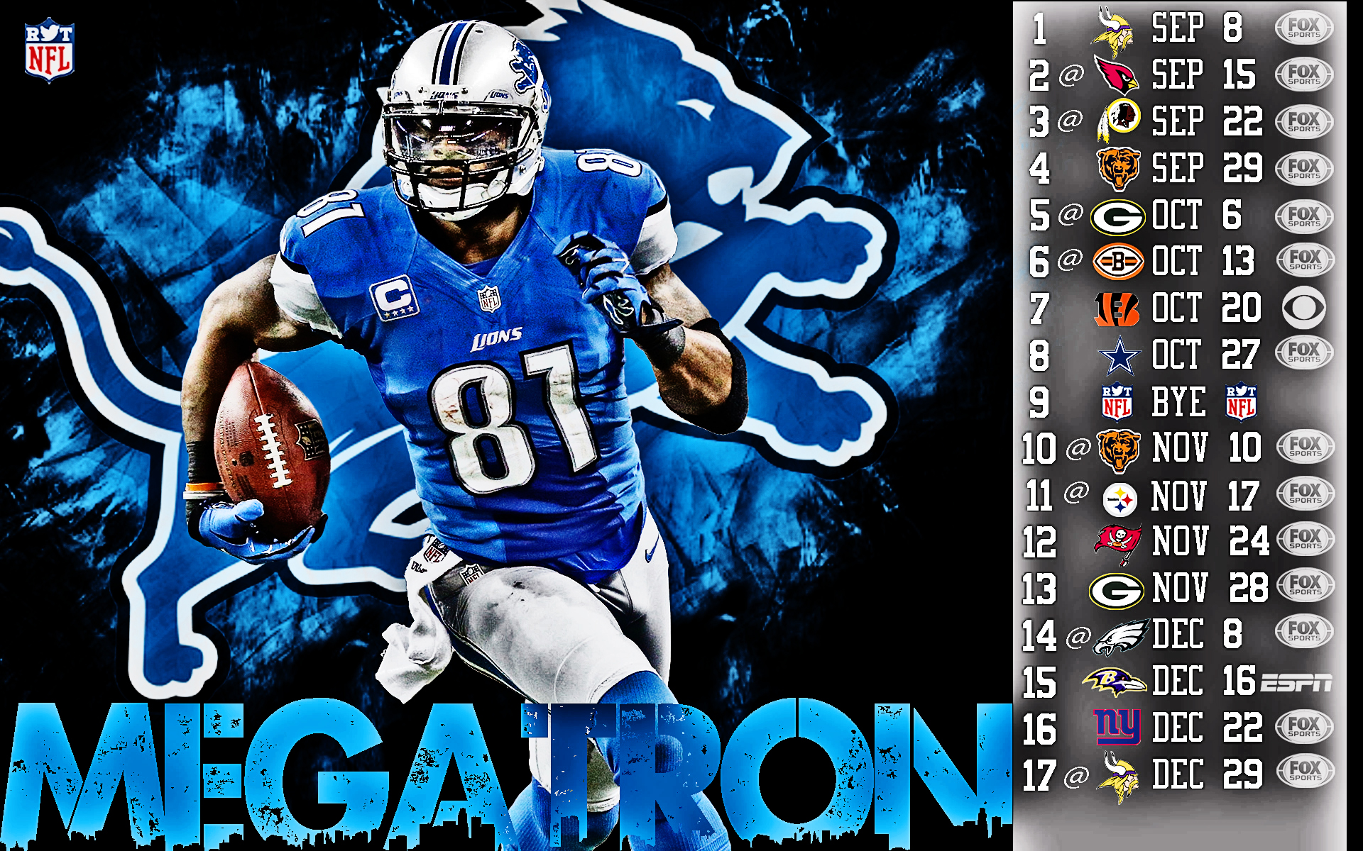 2013 Detroit Lions football nfl wallpaper background 1920x1200