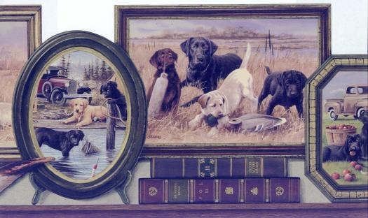 Hunting Labrador Wallpaper Border 525x312