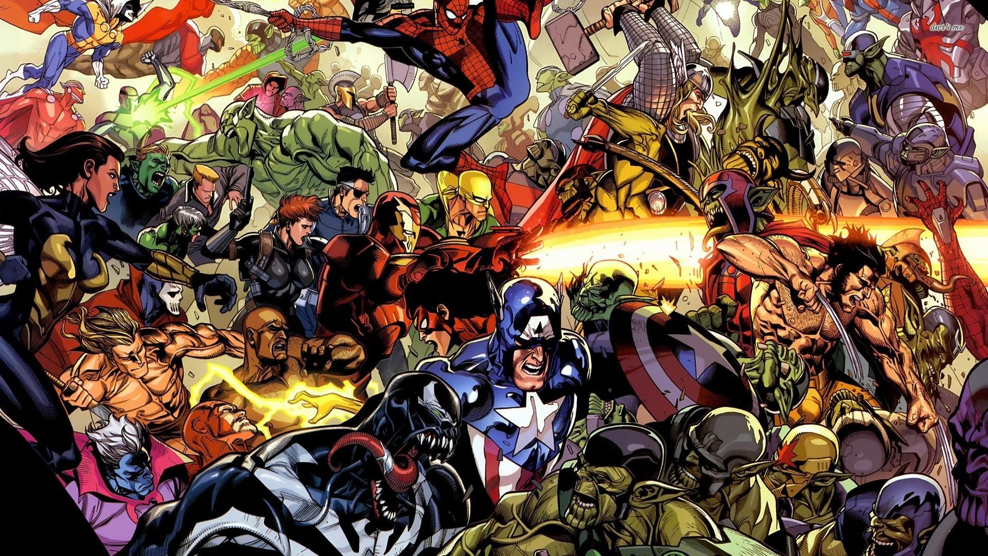 Marvel screensavers and wallpaper wallpapersafari - All marvel heroes wallpaper ...