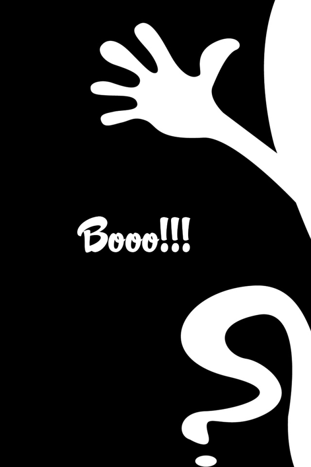 640x960 Black and White Halloween Iphone 4 wallpaper 640x960