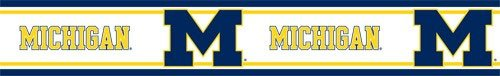 University of Michigan Wolverines   Wallpaper Border   HOME WALL 500x76