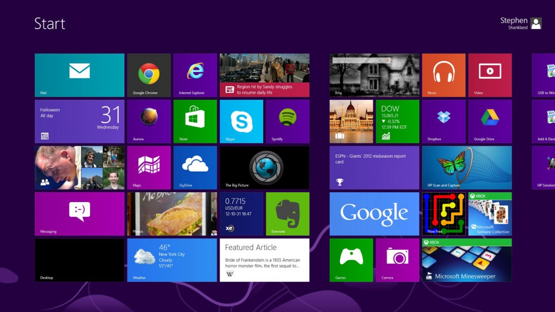 Live wallpaper windows 8 - YouTube