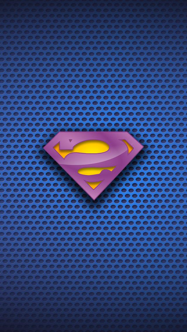 Creative Superman Logo Wallpaper   iPhone Wallpapers 640x1136