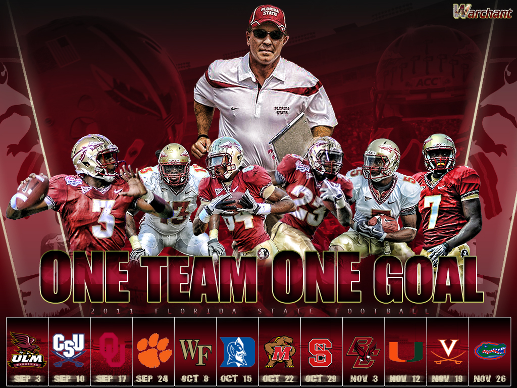Fsu Football Wallpaper Fsu 2011 schedule wallpaper 1024x768