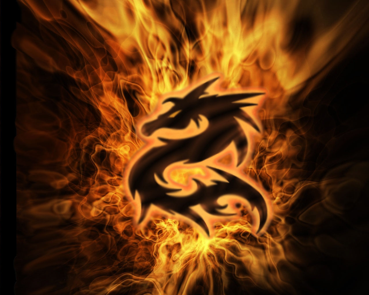Pictures Dragon on fire 3d pictures screensavers wallpapers 1280x1024