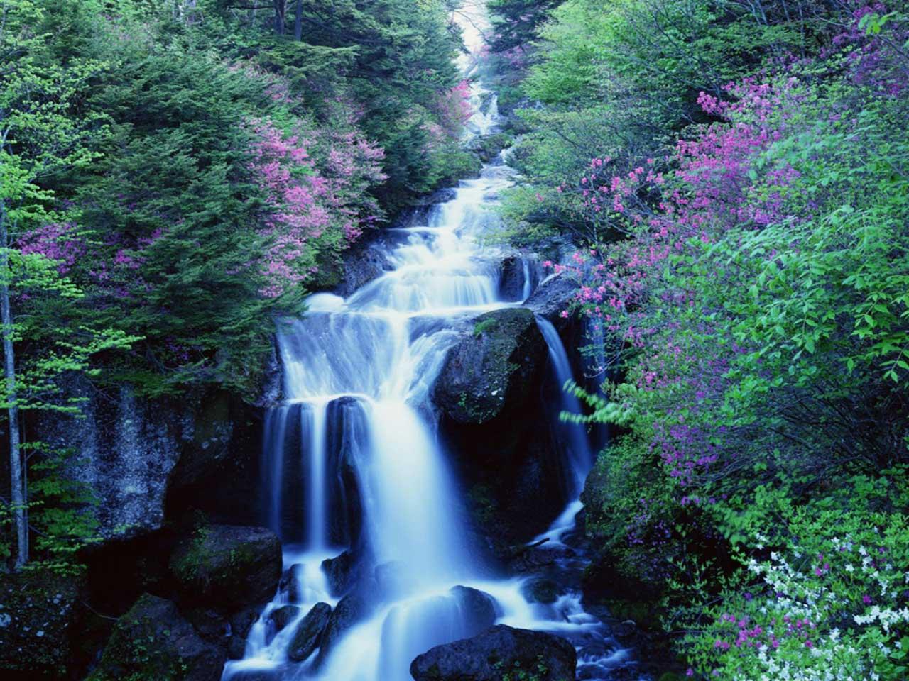 1280x960 desktop wallpaper of blue waterfalls nature vistas 1280x960