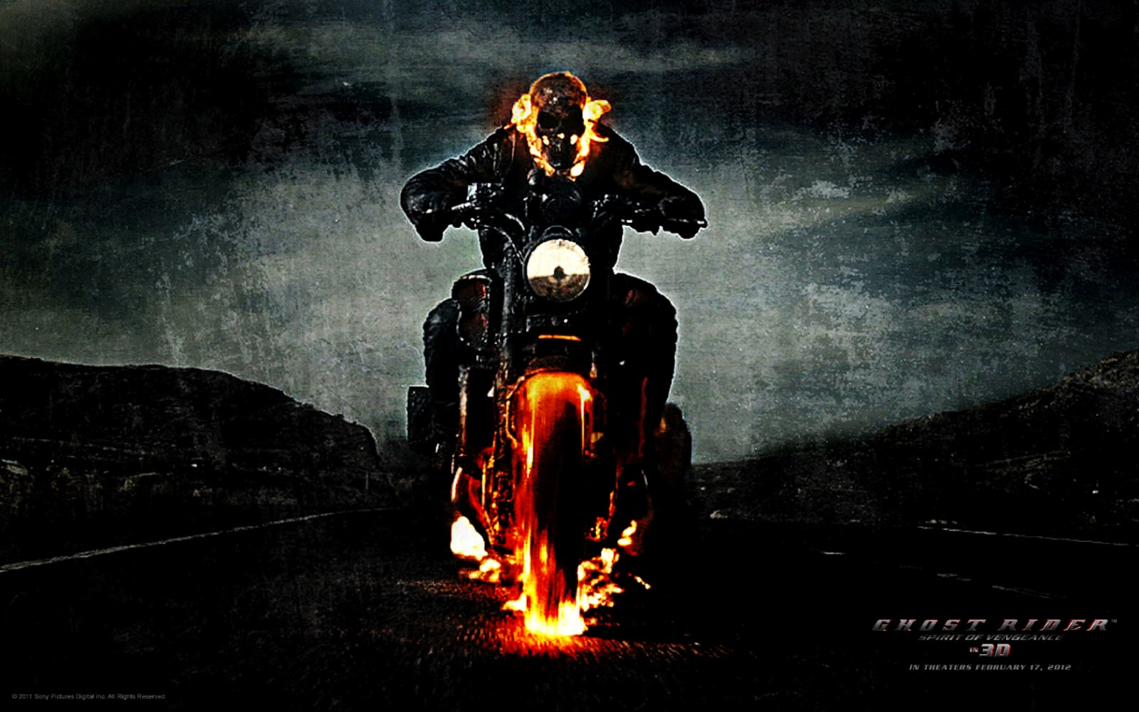 Ghost Rider Spirit of Vengeance Posters HD Wallpapers Download 1600x1000