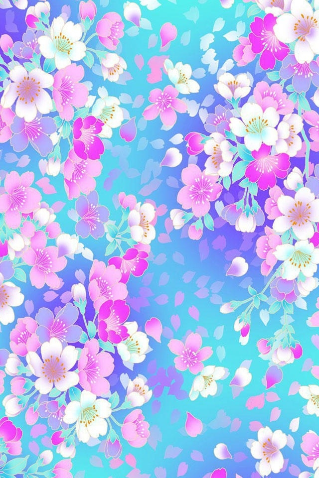 Iphone Wallpapers Hd Awesome Colorful Flowers 4s 640x960