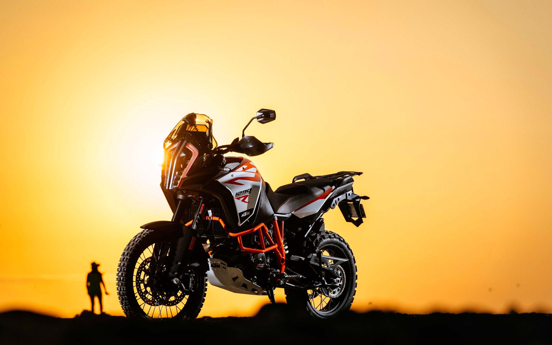 KTM 1290 Super Adventure R sunset 2017 bikes desert offroad 2880x1800
