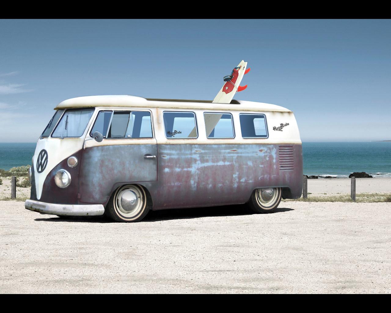 beach vw volkswagen combi van bus wallpaper 1280x1024jpg 1280x1024