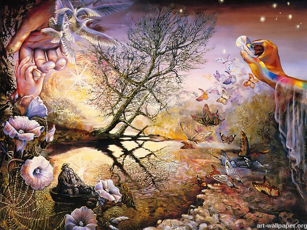 Josephine Wall Paintings Print Poster Art Wallpaper 1024x768