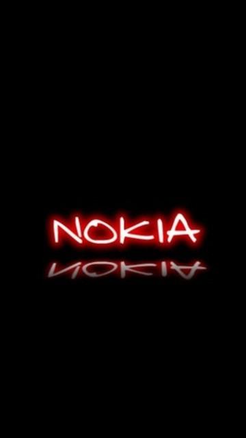 Wallpaper NOKIA Black Red 360x640