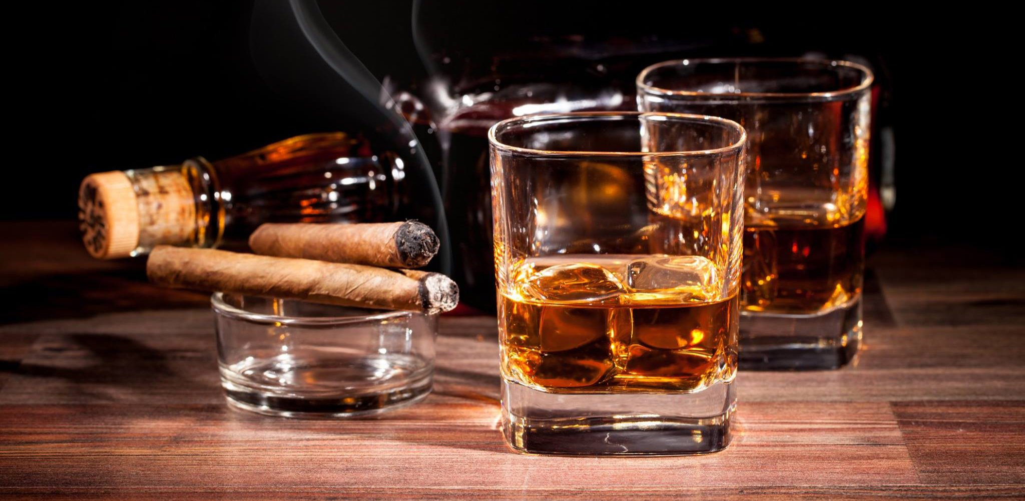 tobacco bokeh smoke smoking cigar drink alcohol drinks glass wallpaper 2048x1002