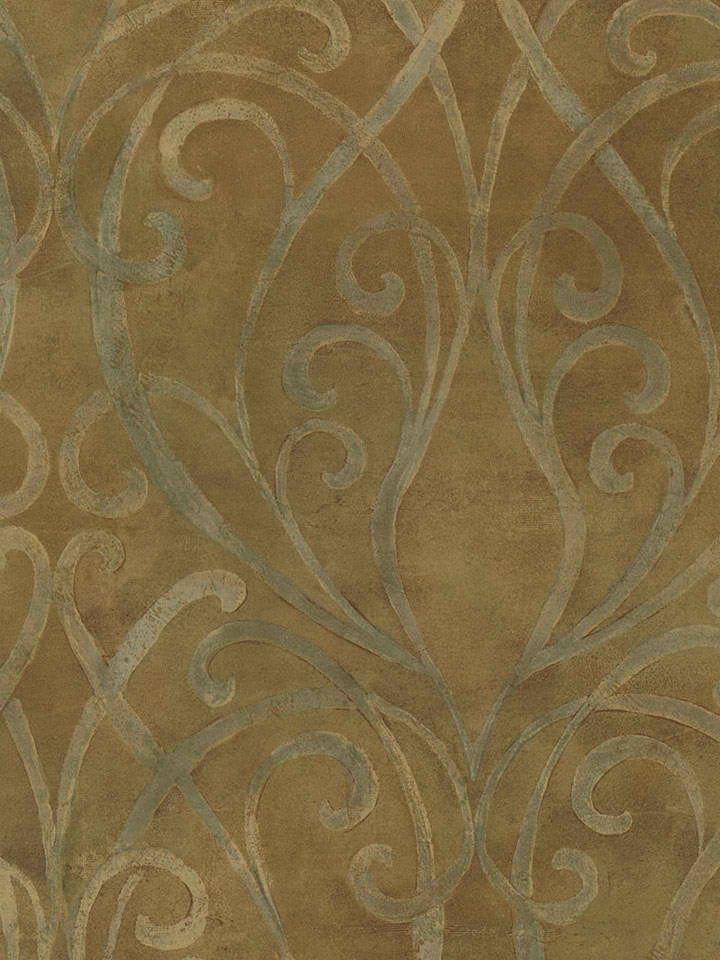 Tuscan Stone Wallpaper Soft Metallic Brown Palazzo Scroll Wallpaper 720x960