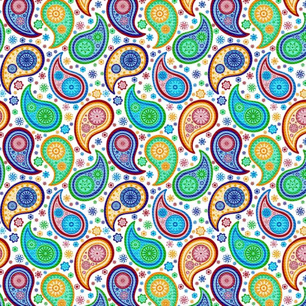 Colorful Paisley Wallpaper Wallpapersafari