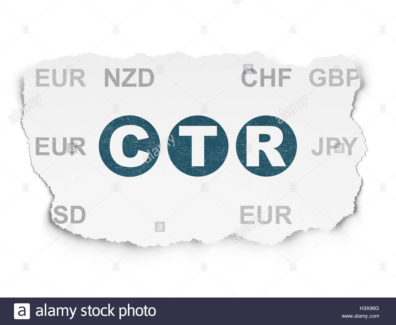 Finance concept CTR on Torn Paper background Stock Photo 1300x1065