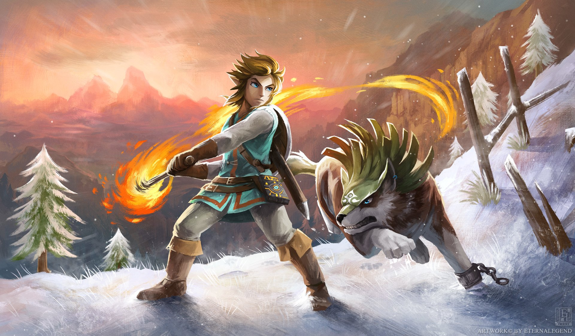 14 Wolf Link HD Wallpapers Background Images 1920x1122