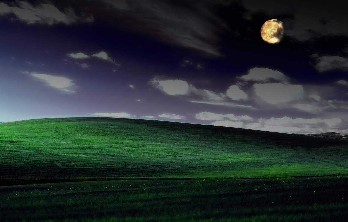 Wallpaper night serenity photoshop windows xp famous Wallpaper 1332x850