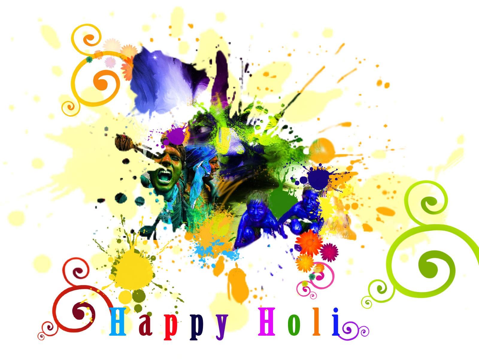 Happy Holi sms MessagesHoli Wishes Holi Greetings 2014Holi Cards 1600x1200