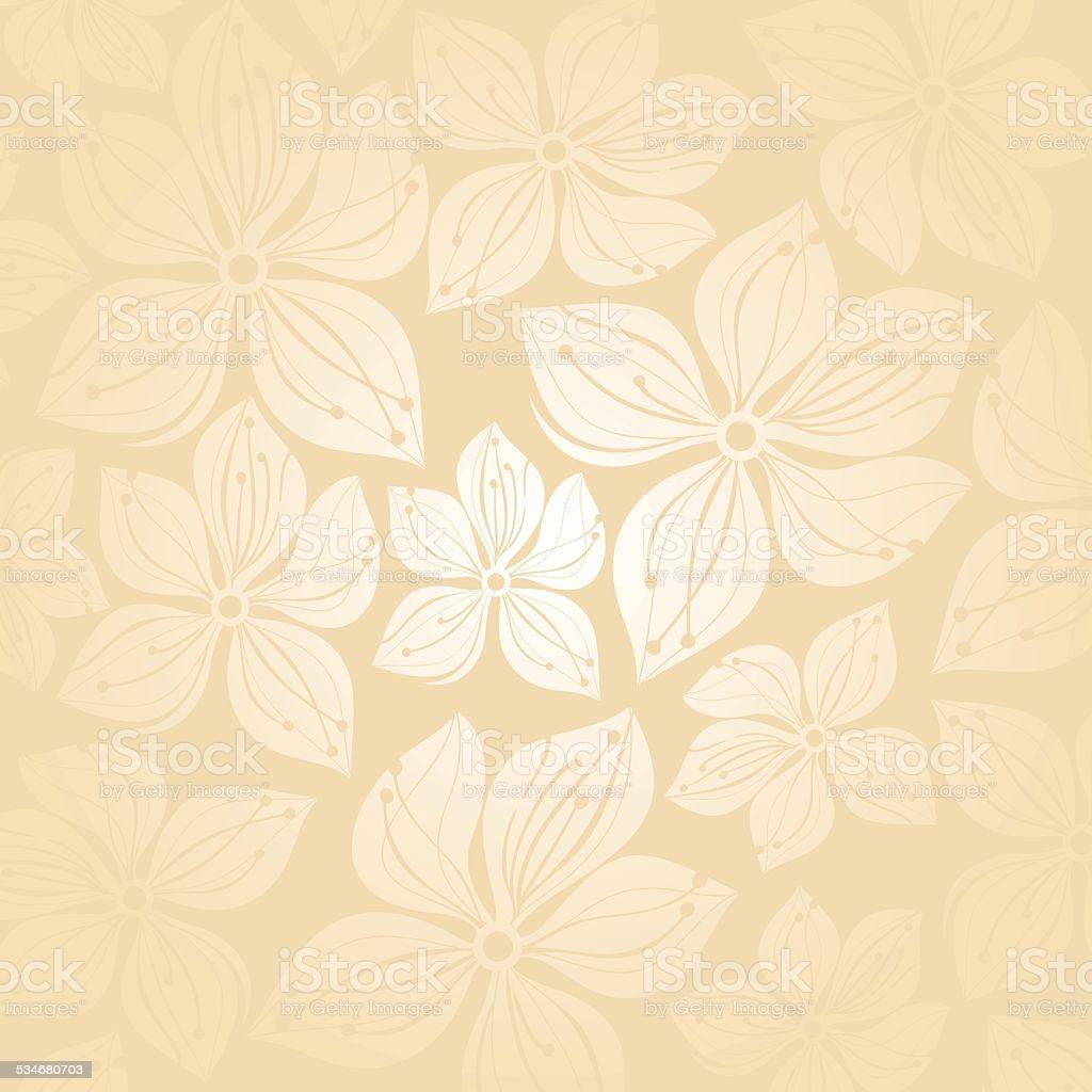 Gentle Floral Wedding Invitation Background Stock Illustration 1024x1024