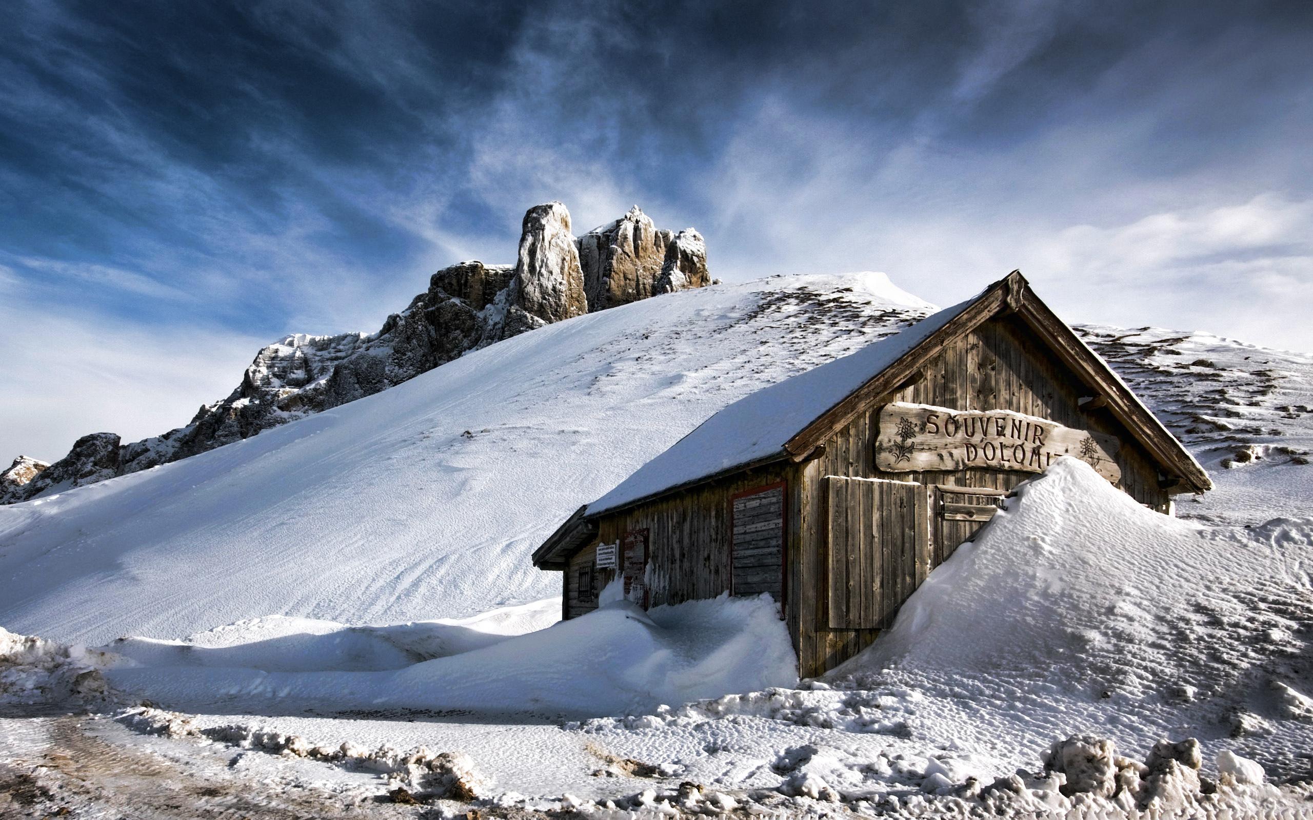 Mountains in winter Desktop Wallpapers FREE on Latorocom 2560x1600