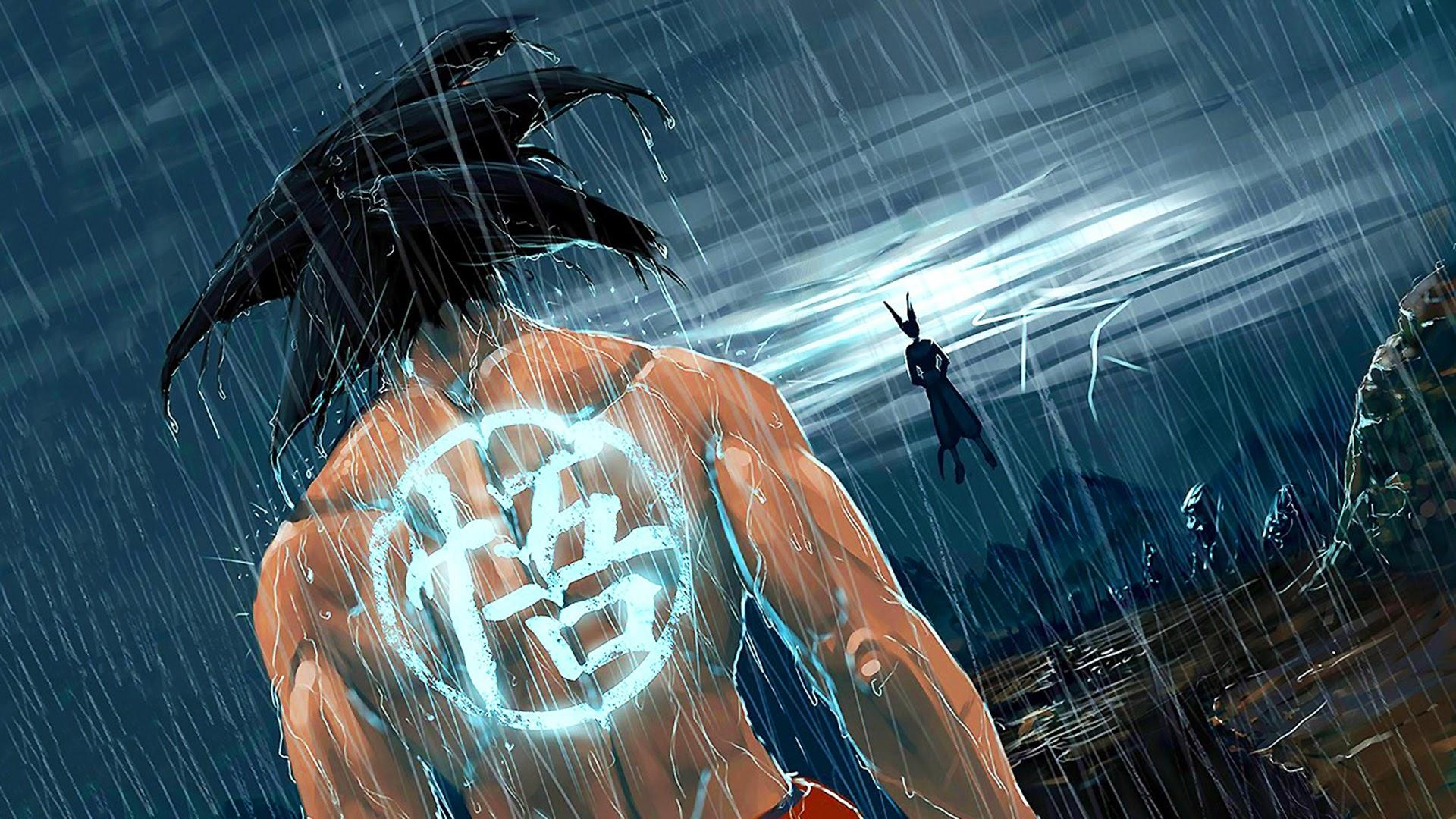 son goku dragon ball battle of gods hd wallpaper raining 1920x1080 1920x1080