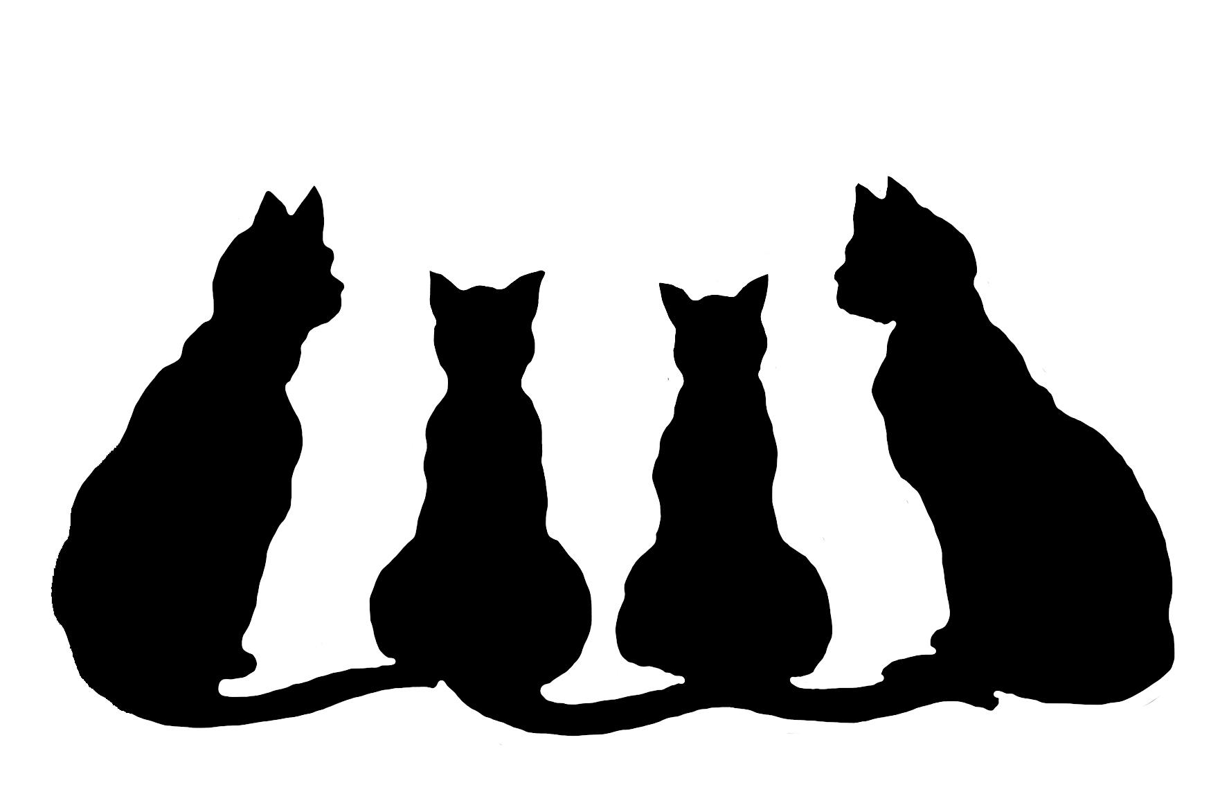 cat silhouette wallpaper - wallpapersafari