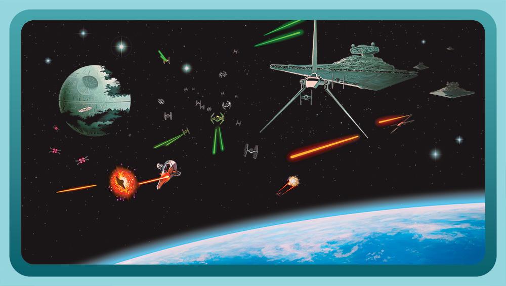 STAR WAR WALLPAPER Star Wars Bedroom Wallpaper 1000x565