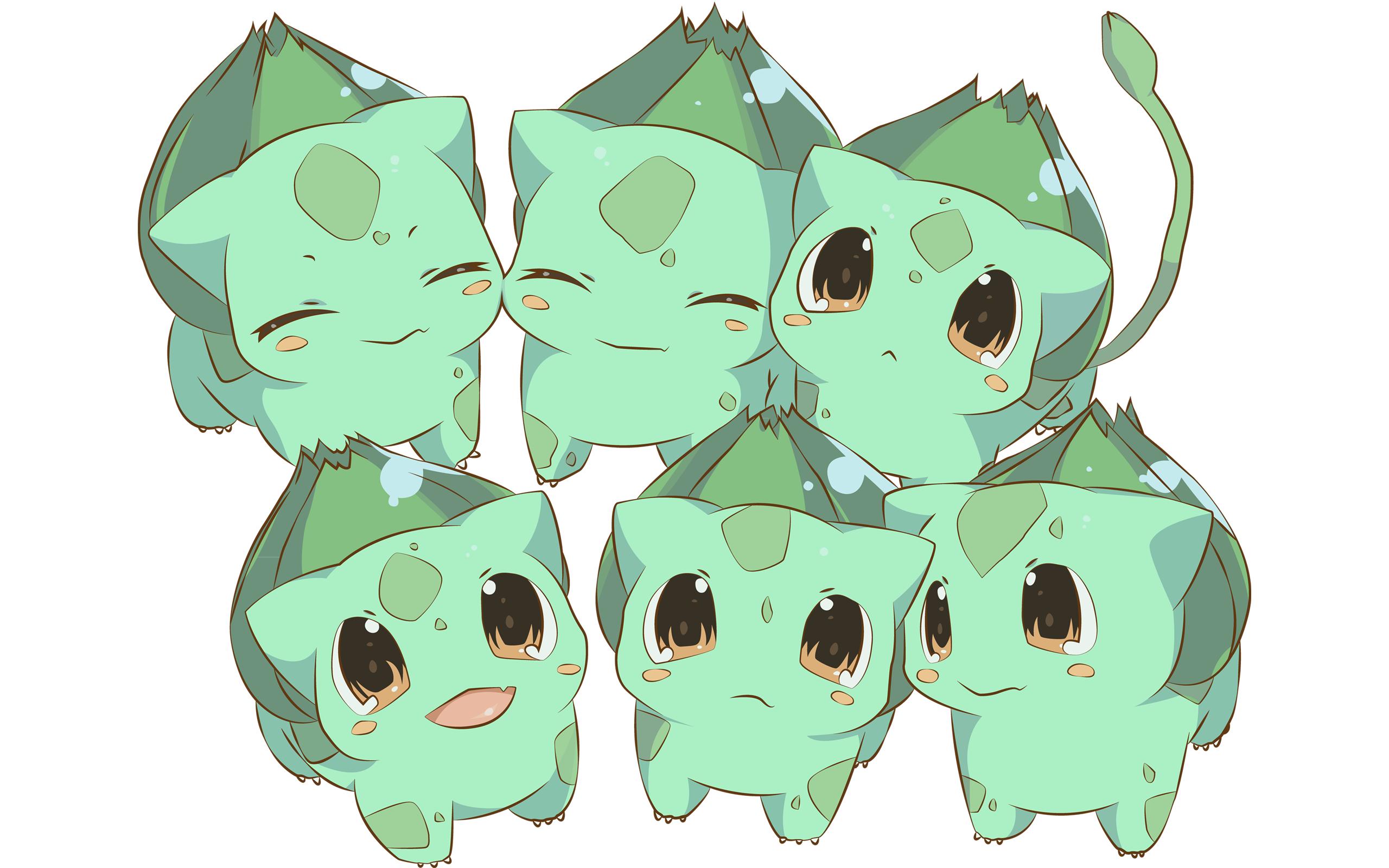 Chibi Wallpaper 2560x1600 Bulbasaur Chibi Kawaii Cute Chibi 2560x1600